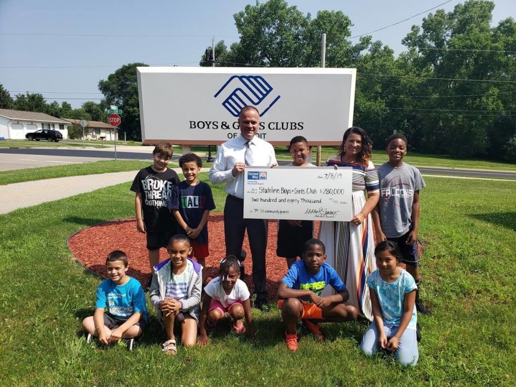 Check Presentation with Stateline Boys and Girls Club