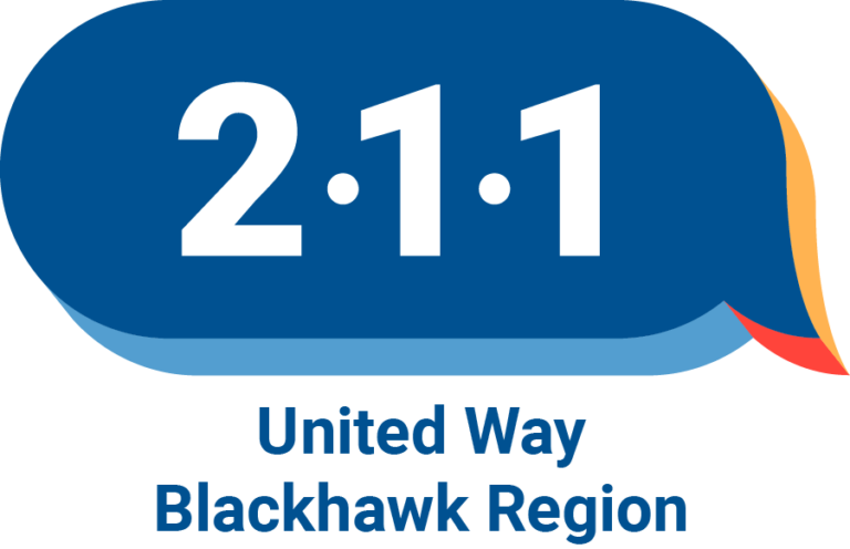United Way Blackhawk Region 211 logo