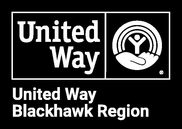 United Way Blackhawk Region white logo